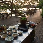 Private cooking lessons by the terrace, sunset