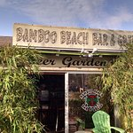 Bamboo Beach Bar and Grill sign