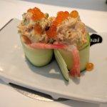 Gurke mit Thunfisch und Süßwasser-Garnele
