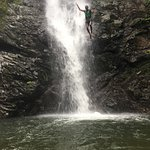 Jumping off the falls