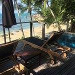 Beach and plunge pool from room