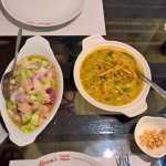 Kinilaw (PHP 250) good, Gising-Gising Vegatable curry (PHP 185) very good