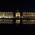 Miroir d'eau, place de la Bourse à Bordeaux