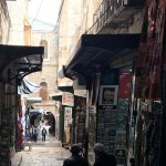 Via Dolorosa is the street - route- that Jesus took to his Crusification.
