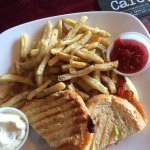grilled cheese with truffle fries