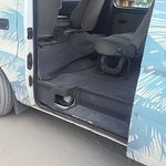 The disgusting min-van they use to transport guests to and from the jetty.