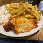 Lasagna and 8oz sirloin steak