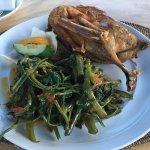 Crispy Duck and Plecing Kangkung