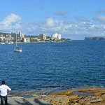 Less than 100 m from the start of the walk at Manly wharf