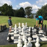 Dad and son loved this cool way to play chess!