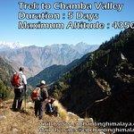 Trek to Chamba Valley Over Indrahar Pass 4350 Mts.