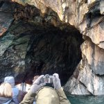 Lack of swell gives access to the caves