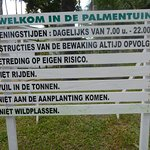 Information about Palmentuin