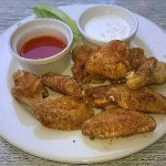 Blackened chicken wings