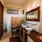 Enjoy a comfortable, big bathroom with a view