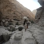 Encounters while hiking through the Wadi Shab in Oman