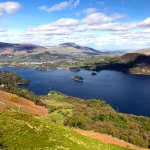 View of Keswick and Derwentwater from Catbells