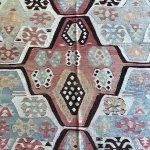 Beautiful pastel nomadic kilim- closeup