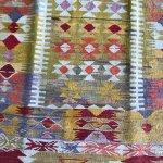Vibrant wild nomadic kilim