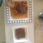 foie gras et calamard