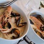 la marmite :poissons et sauce dieppoise excellents