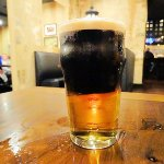 perfectly poured black & tan