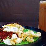 Fried rice and Teh Tarik