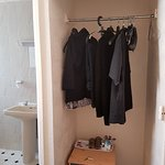 Wardrobe and tea making facilities!