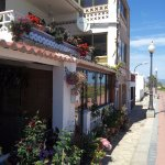 The houses along the sea front at Torres la Sal.