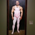 """From the American Art Gallery - """"Top Man""""."""