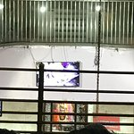 Through the bars one can see 'decorated Jyotirlinga of Shri Mahabaleshwar'