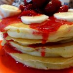 Strawberry Banana Pancakes are delicious