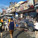 Beach Road Pattaya and promenade at Songkran April 2017