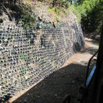 ... and perhaps drained every bottle. Imaginative retaining wall