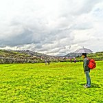 Paseando con la familia en Sacsayhuaman
