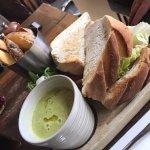 Chef's Sandwich of the Day (BLT) & Pea & Ham Soup