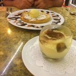 Tiramisu and apple tart