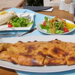 Great Calzone and Chicken Wrap