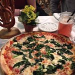 Spinachi Pizza and Raspberry Lemonade