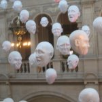 """Floating Heads"" - Kelvingrove, Glasgow"