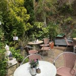 A super brunch , in a lovely quirky bistro in a beautiful village, ,scrambled eggs , mushrooms o