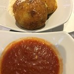 Arancini with red sauce