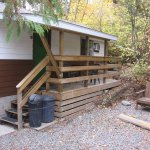 Room #29, a stand-alone cabin with 1 queen bed, sitting area & kitchenette