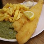 Cod,Chips and Mushy Peas