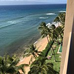 Mahana 1117- looking to the right from our lanai down to the ocean