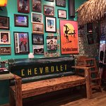 Great photos on the wall of the 2nd (tiki and surf-themed) dining room