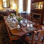 parlor set for breakfast