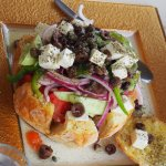The greek salad is very good, so is the rest of the meals. The owner is a very good cook and we