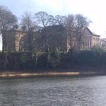 The mansion from alongside the upper lake.