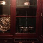 Silver plate in the safe.